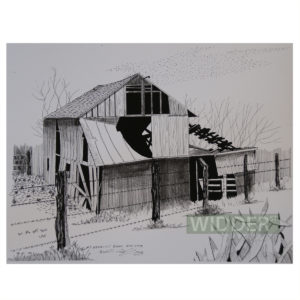Barb Wire Fence Barn