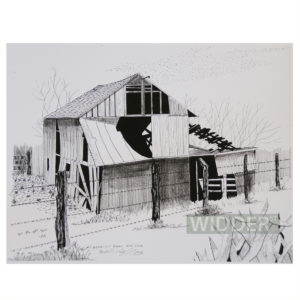 Barbwire Fence Barn