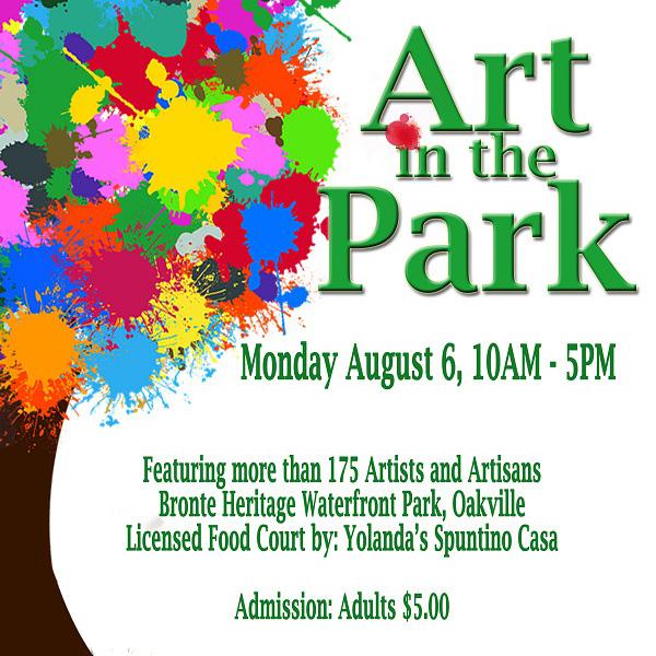 Art in Park Oakville 2018