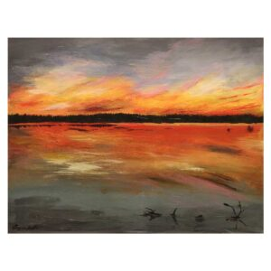 Sunset on the Lake Original Painting